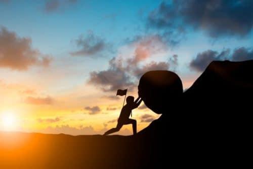 pierre force courage bravoure La motivation céleste pour monter sa pierre au sommet!